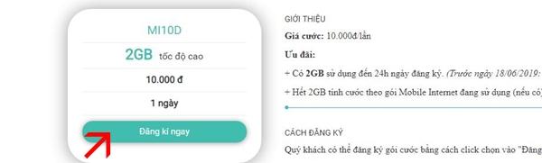 Cách đăng ký các gói 4G 2GB data 1 ngày của Viettel mới nhất, data thả ga dùng xả láng