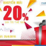 Mobifone khuyến mãi 20% giá trị thẻ nạp duy nhất 25/9/2019