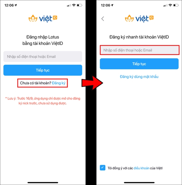 Cách cài đặt và đăng ký app Lotus cho điện thoại iOS và Adroid