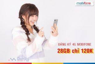 Cách đăng ký 4G Mobifone chỉ 120k nhận 28GB mỗi tháng