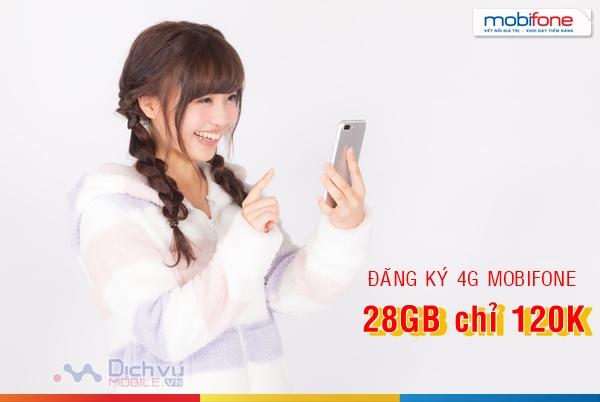 Cách đăng ký gói cước 4G chỉ 120k nhận 28GB mỗi tháng từ MobiFone