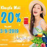 Vinaphone tặng 20% thẻ nạp ngày vàng toàn quốc 13/9/2019
