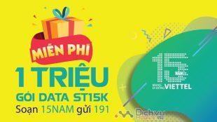Cực hot: Viettel tặng miễn phí 3GB và free gói ST15K từ 6 tháng đến 1 năm