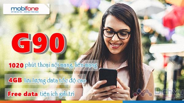 Đăng ký gói G90 Mobifone nhận 4GB, gọi và Free data PUB & Liên Quân