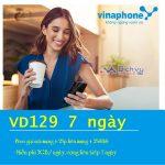 Cách đăng ký gói VD129 7 ngày nhận 3GB/ ngày, Free gọi chỉ 33,000đ