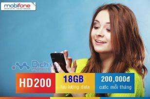 Hướng dẫn đăng ký gói 4G HD200 Mobifone nhận ngay 18GB chỉ với 200,000đ