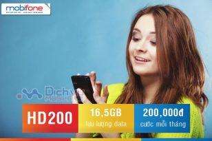 Đăng ký gói HD200 Mobifone nhận ngay 16,5GB chỉ với 200,000đ