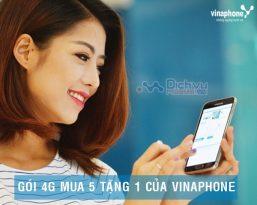 Bảng giá các gói 4G Vinaphone mua 5 tặng 1 cực hấp dẫn