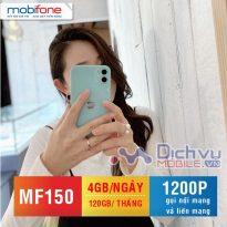 Hòa mạng gói MF150 của Mobifone ôm trọn ưu đãi 4GB/ ngày,1200 phút gọi