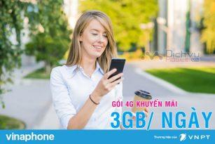 Hướng dẫn đăng ký các gói 4G 3GB/ ngày mạng Vinaphone
