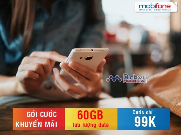 Hướng dẫn đăng ký các gói khuyến mãi Mobifone 99,000đ ưu đãi 60GB