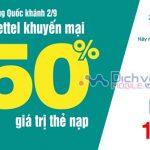 Viettel khuyến mãi 20% thẻ nạp ngày 15/11/2019