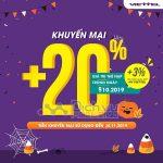 Viettel khuyến mãi tặng 20% giá trị thẻ nạp ngày 9/11/2019