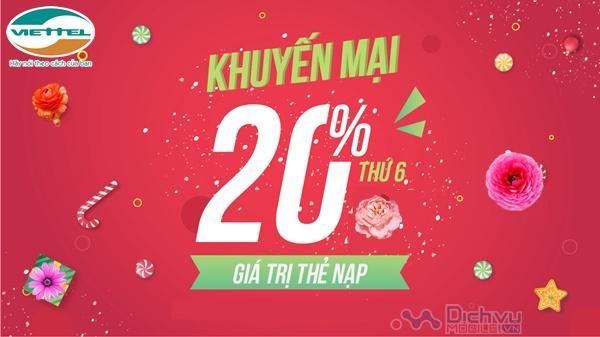 Chúc mừng năm mới: Viettel khuyến mãi 20% giá trị thẻ nạp ngày 30/12/2019