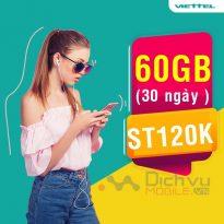 Cách đăng ký gói cước ST120K Viettel chỉ 120K nhận 60GB không giới hạn đối tượng