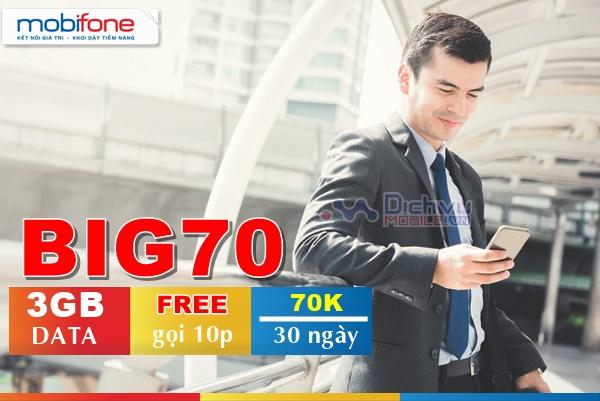 Hướng dẫn đăng ký gói BIG70 Mobifone nhận 3GB và free thoại cực khủng