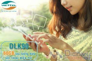 Hướng dẫn đăng ký gói DLK90 Viettel nhận 60GB gọi miễn phí tẹt ga