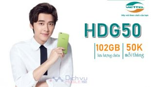 Hướng dẫn đăng ký gói HDG50 Viettel chỉ 50K có ngay 102GB