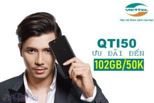 Cách đăng ký gói QTI50 Viettel hưởng trọn 102GB mỗi tháng chỉ với 50,000đ