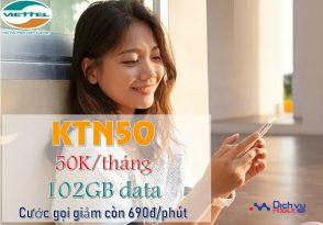 goi cuoc KTN50 Viettel
