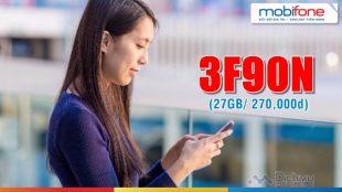 Cách đăng ký gói 3F90N Mobifone nhận 27GB trọn gói