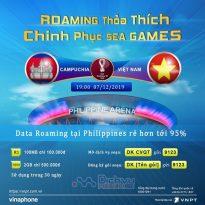 Vinaphone miễn phí 100% cước Data Roaming cho khách hàng đến Philippines