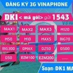Các gói cước 3G Vinaphone