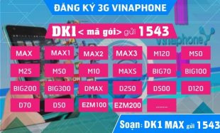 Cách dăng ký 3G Vinaphone