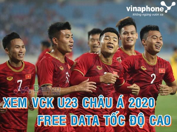 Cách theo dõi trực tiếp VCK U23 Châu Á không tốn data cho sim Vinaphone