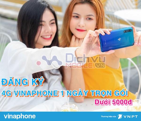 Cách đăng ký các gói 4G Vinaphone 1 ngày trọn gói cước chỉ 5000đ