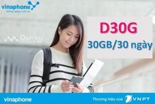 gói cước D30G Vinaphone