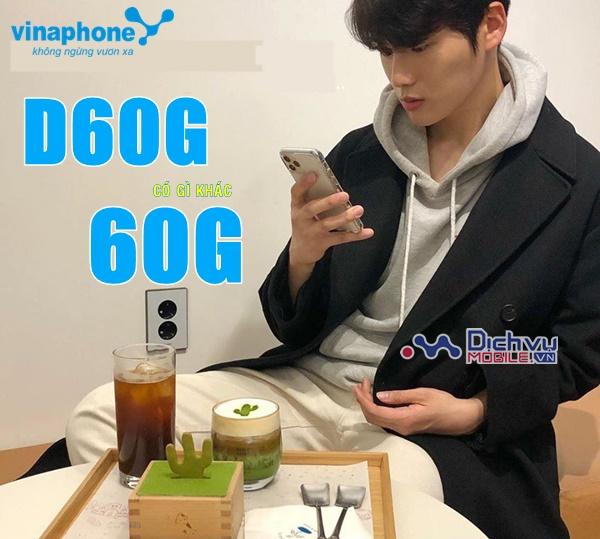 Phân biệt gói cước D60G và gói 60G mạng Vinaphone