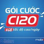 Hướng dẫn đăng ký gói cước C120 Mobifone nhận 4GB data 4G mỗi ngày, free gọi tẹt ga