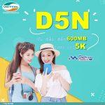 Hướng dẫn đăng ký gói D5N Viettel nhận 600MB/ ngày chỉ 5k