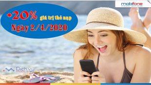 Mobifone khuyen mai the nap ngay 2-4-2020
