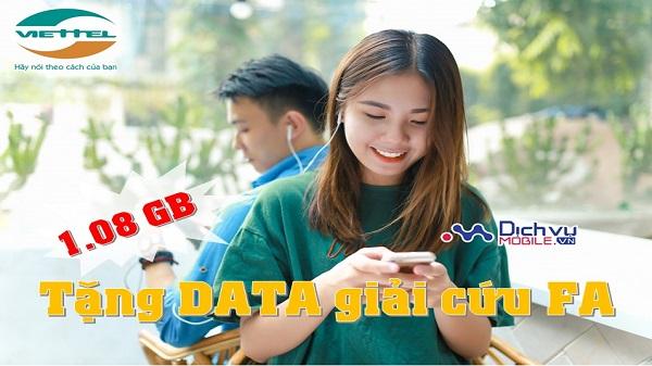 Viettel tang data mien phi cho thue bao dip valentine trang