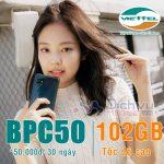 Lướt web tẹt ga với ưu đãi 102GB khi đăng ký gói BPC50 Viettel