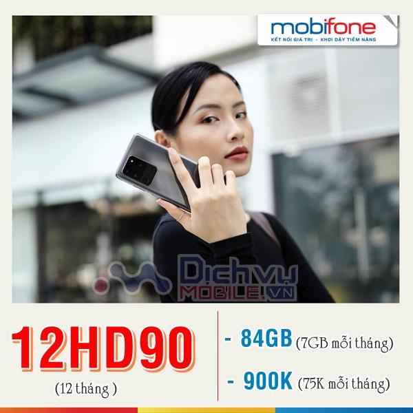 Hướng dẫn đăng ký gói 12HD90 Mobifone nhận 84GB xả láng lưới web