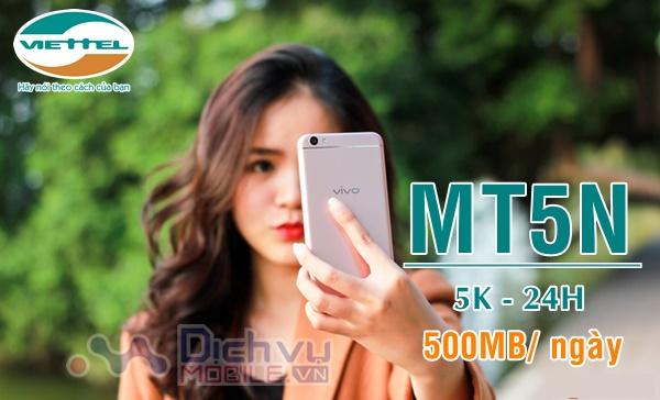Hướng dẫn đăng ký gói MT5N Viettel nhận 500MB/ ngày chỉ 5k