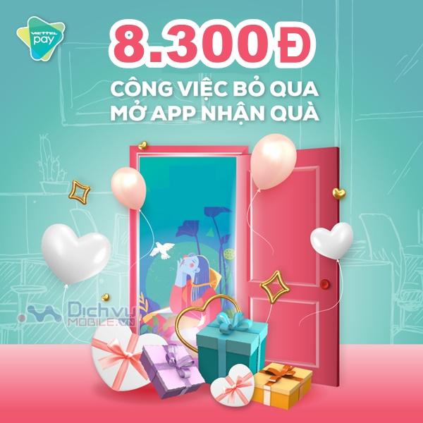 Viettel khuyến mãi tặng 8,300đ cho khách hàng đến hết tháng 3/2020