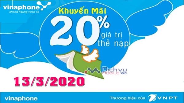 vinaphong khuyen mai the nap ngay 13-3-2020