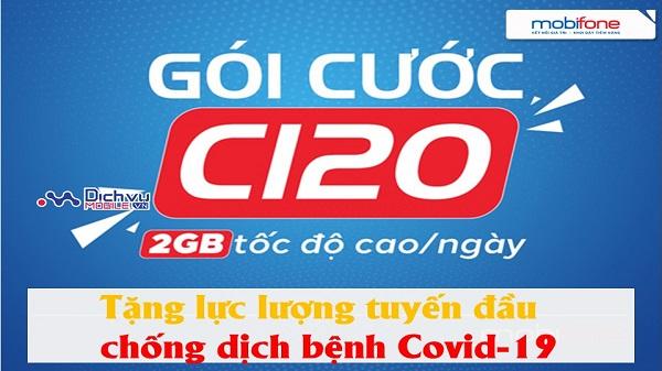 Mobifone tang goi cuoc C120 cho luc luong tuyen dau chong dich Covi19