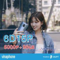 Cách đăng ký gói 6D15P Vinaphone nhận 500MB/ ngày free 1000 phút thoại 6 tháng