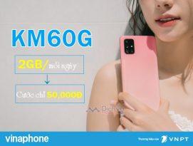 Hướng dẫn đăng ký gói KM60G Vinaphone nhận 2GB/ ngày chỉ 50k