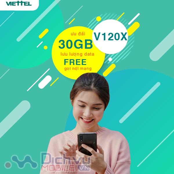 Tha hồ gọi free nhận thêm 30GB khi đăng ký gói V120X Viettel