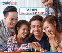 Hướng dẫn đăng ký gói V20N Mobifone gọi 200 phút chỉ 20,000đ