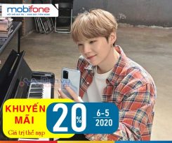 Mobifone khuyến mãi 20% giá trị thẻ nạp ngày 6/5/2020