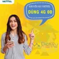 Cách nhận 7GB miễn phí với khuyến mãi dùng 4G 0đ của Viettel