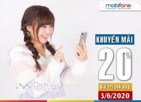 Mobifone khuyen mai ngay vang 3.6.2020