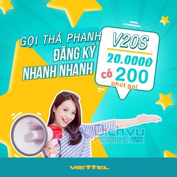 Cách đăng ký gói cước V20S của Viettel nhận ngay khuyến mãi 200 phút gọi chỉ với 20,000đ